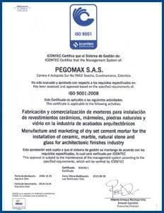 Norma ISO 2016 Pegomax